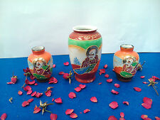Ancien 3 Vases miniature Japon