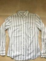 Vivienne Westwood MAN krall collar  mens white striped shirt size 52