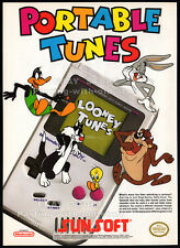 LOONEY TUNES - GAME BOY__Original 1992 print AD / game promo__NINTENDO__SUNSOFT