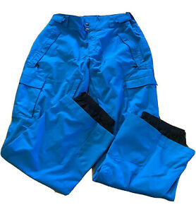 COLUMBIA OMNI-TECH TITANIUM Insulated Snow Ski Snowboarding Pants large blue