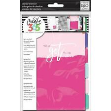 MAMBI MINI Happy Planner CALENDAR EXTENSION PACK  - inserts dividers & stickers