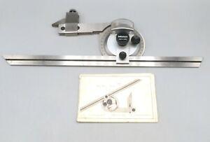 "Mitutoyo 12"" Universal Bevel Protractor Machinist Tool Series 187"