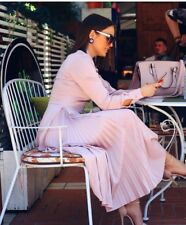 H&M SS2018 POWDER PINK TRENDY SATIN PLEATED DRESS BLOGGERS HOLIDAYS SOLD OUT