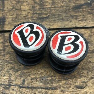 Bontrager Trek Handlebar End Plugs Bar Caps Vintage Road Drop Bar Red