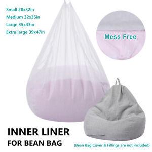 Liner for Bean Bag Lazy Sofa Inner Liner Bean Bag Insert Replacement Cover