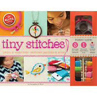 Kluta TINY STITCHES learn to embroider BOOK kit NEW