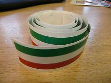 Italiano flagstripe Stripe Cinta - 4 Pies X 1en-Rojo / Blanco / Verde
