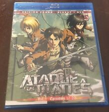 ATAQUE A LOS TITANES. VOL 5 - CAPS 17 A 20 - EDICION COMBO BLURAY + DVD - 100MIN