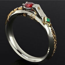 League of Legends LOL The Virtuoso Jhin Cryatal Gold Ring Luxury Jewelry Gift