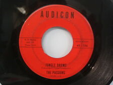 The PASSIONS Gloria/ Jungle Drums DOO WOP Orig. Stamped 45 AUDICON 45-106