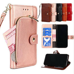 Luxury Zipper wallet Flip Phone Bag PU Leather Case For OnePlus 7 6 6T 5 5T 2 3
