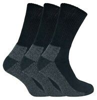 IOMI - 3 Pairs Mens Extra Wide Loose Top Cushioned Cotton Diabetic Work Socks