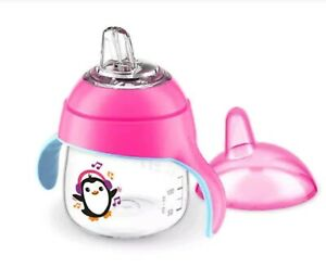 Philips Avent My Little Sippy Cup 7 oz SCF751/30 - Pink Music Penguin