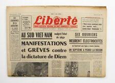 Liberté n°303 - 1963 - Quotidien du parti Communiste - Skoplje séisme