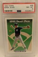 1993 Derek Jeter PSA 8 Topps Draft Pick Rookie RC #98 *NICE* New York Yankees