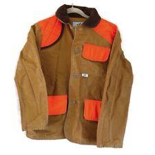 Vtg American Field Hunting Jacket Mens Duck Brown Orange Small Coat Usa Shooting
