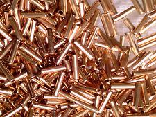Vtg 200 COPPER METAL BUGLE BEADS 6mm JEWELRY STEAM PUNK GOTH #082413c