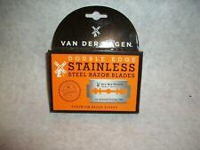 2 Pack Van Der Hagen Stainless Steel Razor Blades, 5 Count each--NIB--Ships FREE