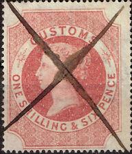 UK Queen Victoria 1S6P Customs stamp 1860