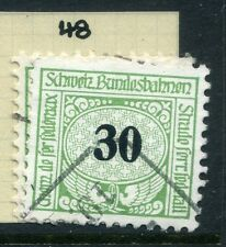 SWITZERLAND;  1913-30s early RAILWAY PARCEL stamp fine used  30c. Type  48