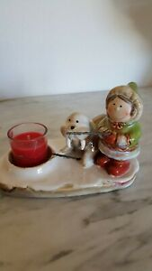 Yankee Candle Eskimo Girl and Seal Fishing Tealight Candle Holder