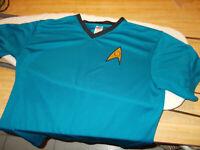 Star Trek Dr. McCoy medical uniform top (mens medium size)