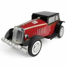 Clockwork tin toy collectable Classic Car Litho vintage wind up red black