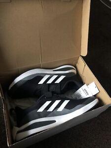 adidas FortaRun Lace Junior Kids Running Trainer Shoe Black/White 6.5