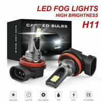 2x H11 H8 H9 LED CAR HEADLIGHT KIT HIGH LOW BEAM VEHICLE REPLACE HALOGEN