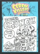 CEREAL KILLERS 1st SERIES Wax-Eye 2011 SKETCH CARD by NEIL CAMERA Zomb'a Crunch