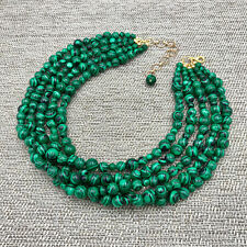 Green Malachite Necklace, Turquoise Necklace, Beaded Necklace, Chunky Necklace