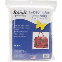 Bosal In- R- Form Plus Unique Fusible Foam Stabilizer, White, 18 x 58-inch -