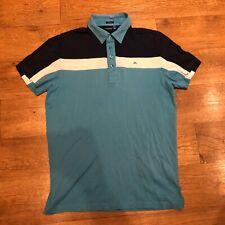 """J Lindeberg Golf Polo Shirt Big Logo Small 40"""" Chest"""