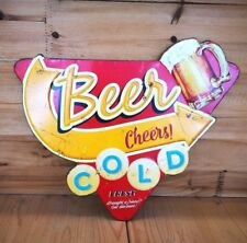 Blechschild Bier Beer  COLD BEER Metallschild Bar NEU