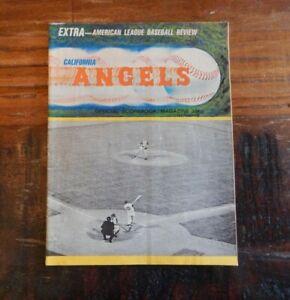 1966 CALIFORNIA  ANGELS VS BALTIMORE ORIOLES BASEBALL PROGRAM BROOKS PALMER +