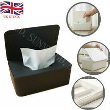UK Wet Wipes Dispenser Holder Tissue Storage Box Case with Lid Home Storage