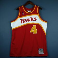 100% Authentic Mitchell & Ness Spud Webb 86 87 Hawks Jersey Size 48 XL Mens