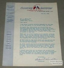 1949 Can.-Ame. Baseball Albert Houglton Signed Letter
