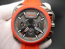 New Old Stock DIESEL BAMF DZ7368 Chronograph Red Silicone Strap Quartz Men Watch