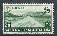 1938 AFRICA ORIENTALE ITALIANA SOGGETTI VARI 25 CENT MNH ** - RR9699