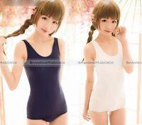 SUKUMIZU Sexy Cosplay Japanese School Swimsuit Swimwear Blue White