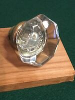 "Reclaimed Architectural Antique Door Knob Metal 8 Points Glass Jumbo 2-1/4"" #8"