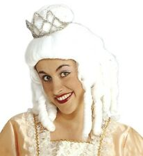 Ladies White Princess Wig Medieval French Cinderella Fairy Tale Queen Fancy Dres