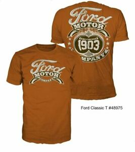 Ford Classic T-Shirt - 1903 Logo on a Rust Color Shirt * Free Shipping to USA!
