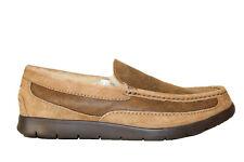 Ugg Australia Mens F-ascot Bomber Loafer Slipper Shoes Sz 7.5 Chestnut Suede