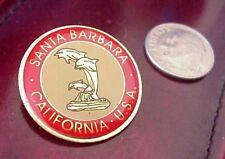 SANTA BARBARA CALIFORNIA U.S.A. DOLPHIN PORPOISES SOUVENIR LAPEL HAT PIN