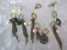 Women Brass Gothic Earrings