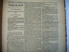 compte rendu in extenso nov 1916 chambre députés journal officiel 13 nov 1920
