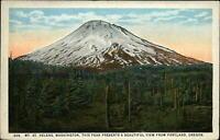 Mt St Helens Washington view from Portland Oregon ~ 1920s vintage postcard