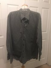 Dolce & Gabbana Shirt Button Down Striped Size 17 43 XL In US French Cuffs